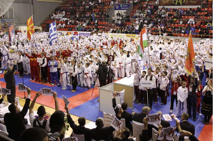 Strong message from Balkan karate athletes