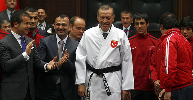 Turkey Prime Minister, Karate Black Belt